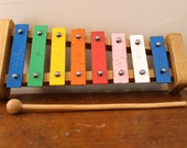 Music Lesson..  Vintage Xylophone Children's Instrument