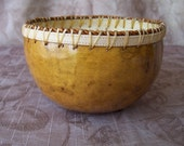 Small russet gold gourd bowl, simple. 1018.