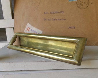Vintage Bronze Door Mail