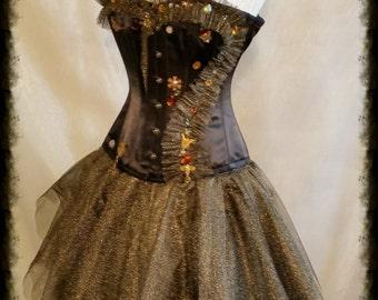 Halloween Corset STEAMPUNK COSTUME Goth By Gothic Burlesque