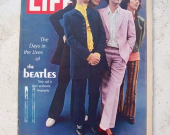 Vintage Beatles Life Magazine 1968 Days In The Lives of The Beatles John Paul George Ringo Beatle Memorabilia 60s Advertisement