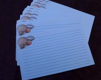 Seashell Recipe Cards