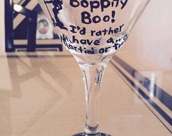 Halloween Martini Glass