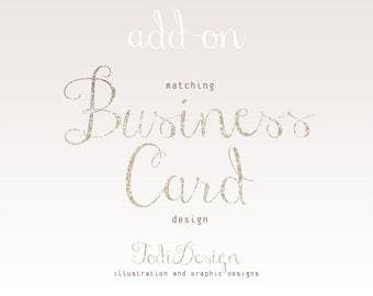 ADD ON Business Card design to match any of my Premade shop set
