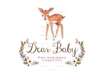 Dear Baby  Premade Logo design -  Spring Forest Photography Logo Design