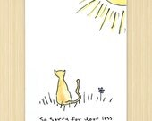 """Sympathy Card, Pet Card eco greeting card, 100% recycled paper greeting card """"So Sorry For Your Loss"""" RWC33"""