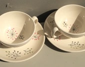 Vintage Franciscan Echo pattern coffee cup and saucer set.  Gladding McBean & Co. Made in California mid century