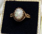 Opal Chip Ring - Vintage Captured Real Opal Chips