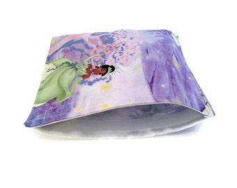 Princess and the frog reusable snack bag, reusable sandwich bag