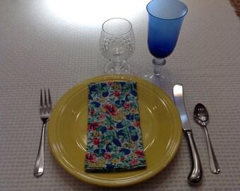 Handmade Cotton Cloth Dinner Napkins, set of 4
