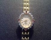 Vintage Deauville Diamond Quartz Ladies Wrist Watch