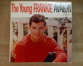 FRANKIE AVALON - The Young Frankie Avalon - 1959 Vintage Vinyl Record Album