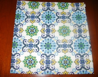 4 Cotton Napkins...Stitched Hems Not Serged...17 inches...Reusable...Eco Friendly...FREE SHIPPIING