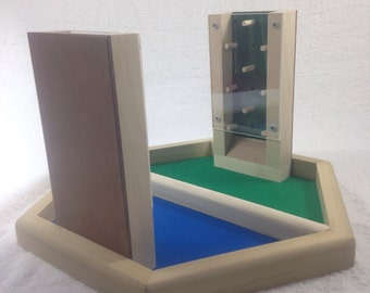 Wooden Dueling Dice Tower Tray