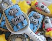 3 Dozen Robot Theme Cookie Nibbles