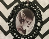 Bride of Frankenstein Cameo Necklace