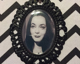 Morticia Addams Cameo Necklace