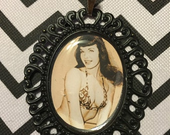 Bettie Page Cameo Necklace