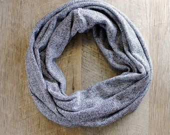 Gray Sweater Knit Infinity Scarf