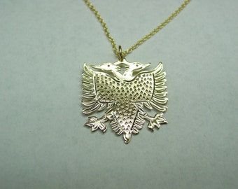 albanian eagle,  1'' size .10k solid gold .no chain