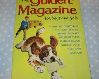 Golden Magazine for Boys and Girls Yellow Puppy June 1965 Vintage Children Book