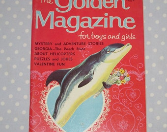 Golden Magazine for Boys and Girls February 1966 Vintage Children Book
