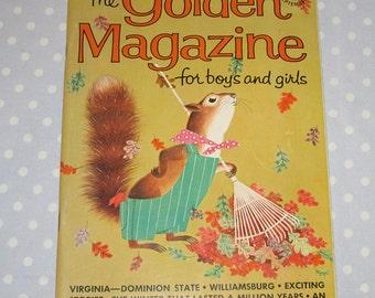 Golden Magazine for Boys and Girls September 1964 Vintage Children Book