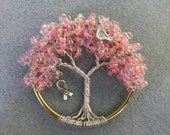 3 Inch Breast Cancer Awareness Tree of Life Suncatcher