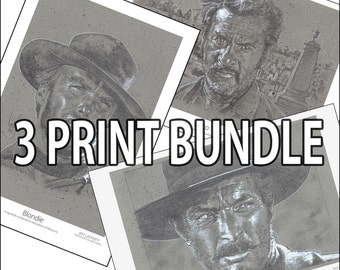 3 Print Bundle - The Good, The Bad And The Ugly
