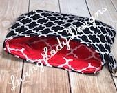 BLACK & RED Mini Coraline Wristlet