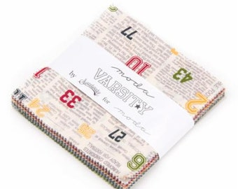 LAST ONE Varsity Charm Pack by Sweetwater for Moda