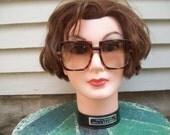 Rad Retro 80's Tortoise Shell Square Shaped Sunglasses / Fashion Eyewear
