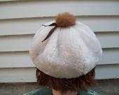 Vintage Fuzzy Beret Hat Fashion Cap