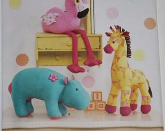 Barney Dinosaur Knitting Pattern : Butterick 6870 Barney Pattern 3 Dinosaurs Pattern Stuffed Toy Pattern Craft S...