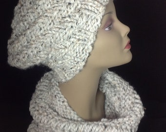 Soft wool cowl, hand knit cowl, winter coat fashion, winter cowl, soft and cozy