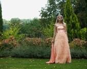 ON SALE 20% off Beautiful peach long dress, wedding dress, prom dress EU 36,38 size