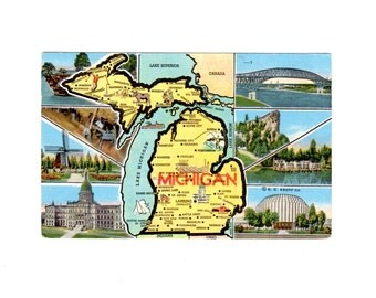 Michigan Vintage Postcard