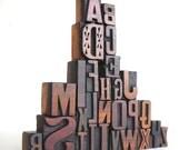 A to Z - Vintage Letterpress Wood Type Collection -LP13
