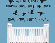 Greenheads Pintails Teal galore I count ducks wall decal living room, bedroom, Boy Girl Nursery Baby , duck Hunting décor, truck, car, van
