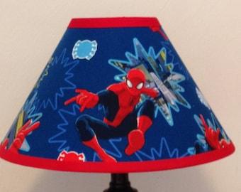 Spiderman Fabric Childrens Lamp Shade