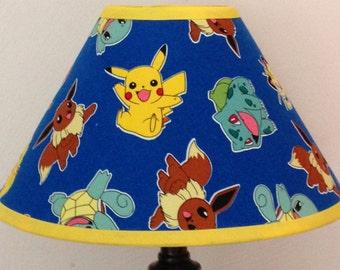 Pokemon Custom Fabric Children's Lamp Shade