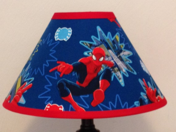 Spiderman Fabric Childrens Lamp Shade/Children's Gift