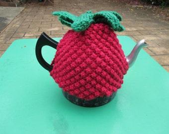 Strawberry Tea Cozy - Vintage Style