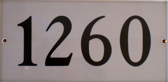 TILE HOUSE NUMBERS Taupe  /Ceramic Tile/ Address Plaque/ Address Numbers/Signs