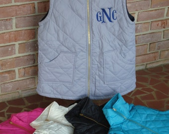 Monogrammed Quilted Reversible Vest