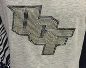 CHILD or ADULT Size UCF Knights Bling Crystal Rhinestone Shirt