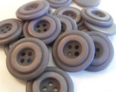 """16 Ash Gray Raised Ring Round Buttons Size 15/16"""" Crafting Sewing"""