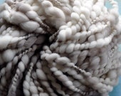"Super Bulky Light Grey Yarn Chunky Thick Hand spun Handspun ""Clay"" Boucle Big Wool Knitting Supplies, Crochet Yarn"