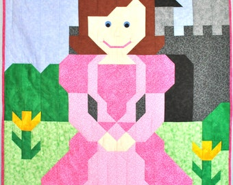 Princess Quilt pattern in 3 sizes.