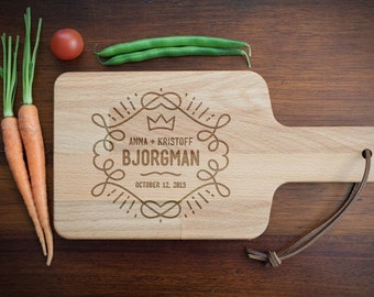 Personalized Wooden Cutting Board / Cheese Board for Anniversary, Wedding Gifts